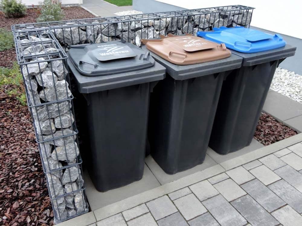 Gabionen Mülltonnenbox